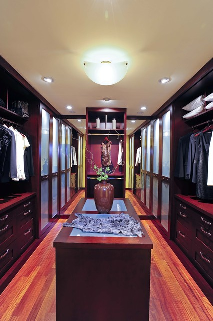 Featured in Gentry Design and Palo Alto Weekly Home & Garden modern closet