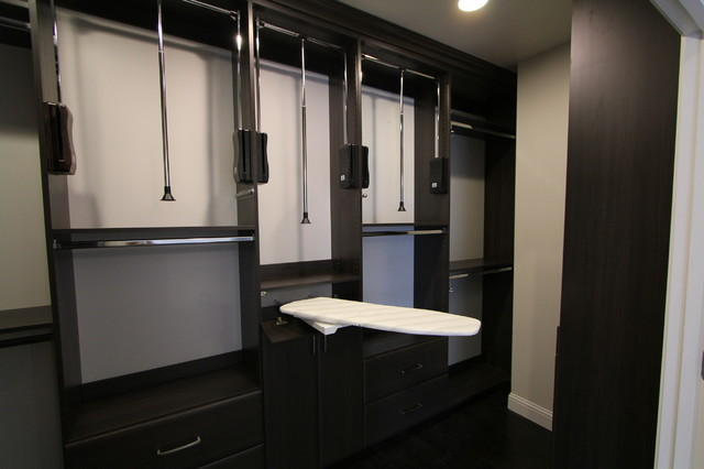 Flores Master Closet - Modern - Closet - dallas - by Techline Furniture, Cabinetry & Closets