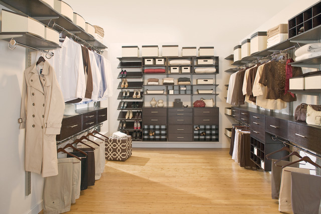 freedomRail Master Closet with Shoe Storage contemporary-closet