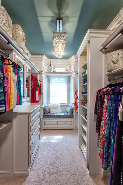 French Country European Style Home traditional-closet