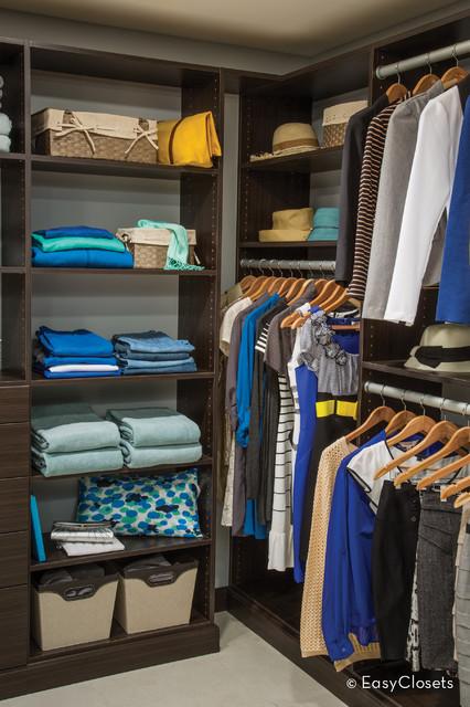 French Roast Walk-In Closet contemporary-closet