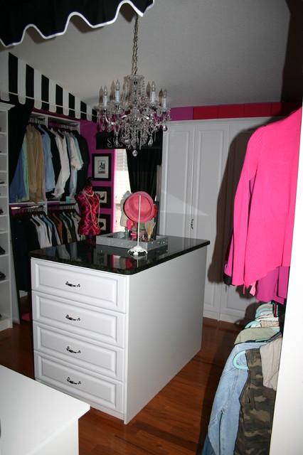 Fuscia Custom closet traditional-closet