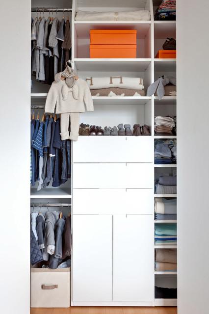 Gabriel's Elephant Nursery contemporary-closet