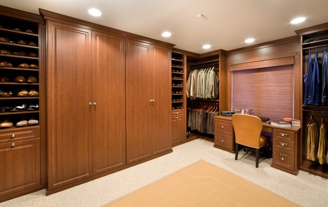 Gentleman's Quarter - Traditional - Closet - chicago - by Closet Organizing Systems