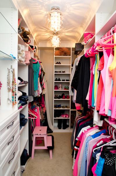 girly walk in closet traditional wardrobe cincinnati by
