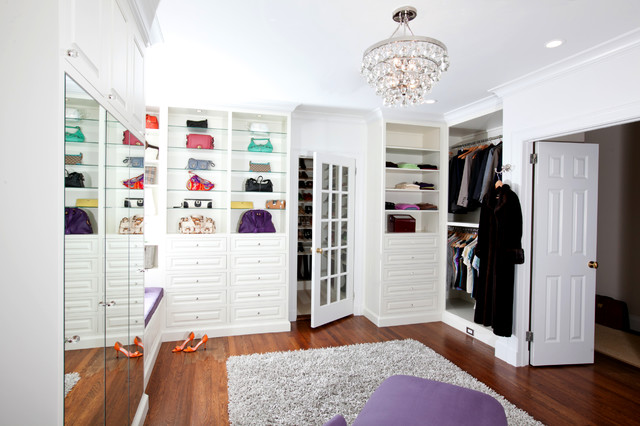 Glamorous Master Suite traditional-closet