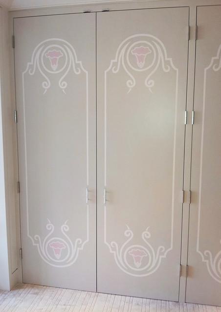 painted closet doors. Hand Painted Closet Doors Contemporary-closet G