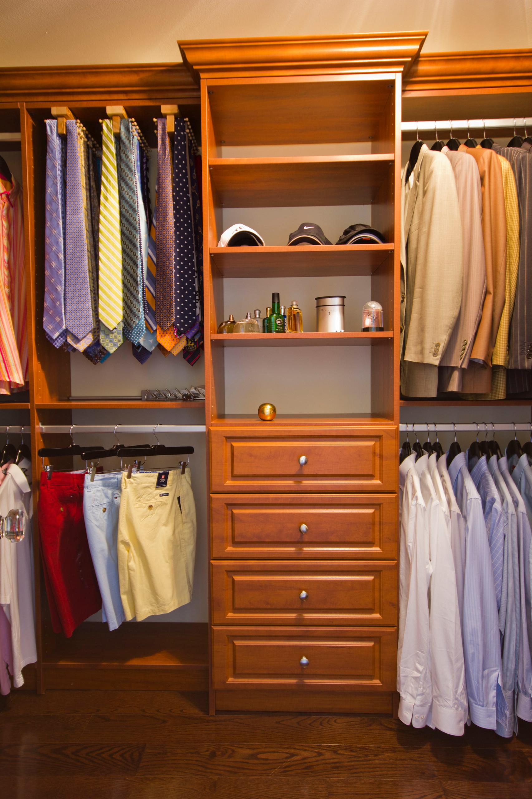 Handsome Mens walk-in closet