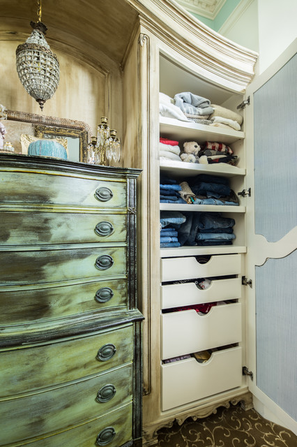 Her Master Closet Addition Shabby chic Style