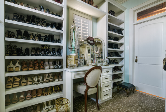Delightful Her Master Closet Addition Shabby Chic Style Wardrobe