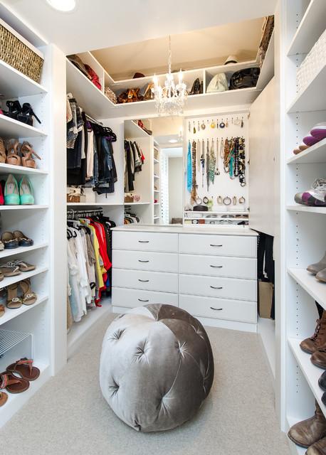 Her master closet southwest view transitional closet for Closet design los angeles