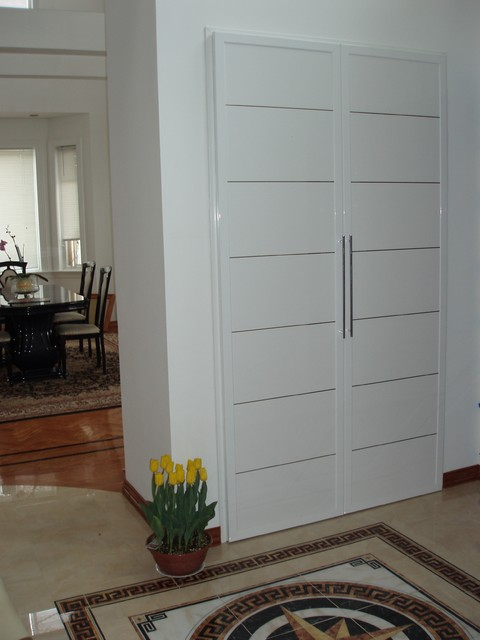 High-end exterior, interior doors - Queens, NY - modern - closet ...
