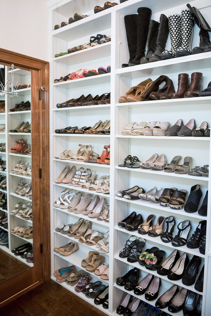 His Her Custom Walk In Closet Project Traditional