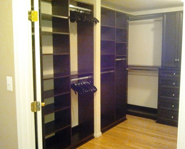 His hers closet contemporary wardrobe baltimore for His and hers wardrobe