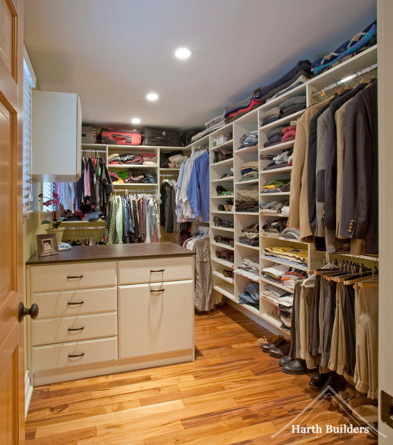 His hers closet closet philadelphia by harth builders for His and hers walk in closet