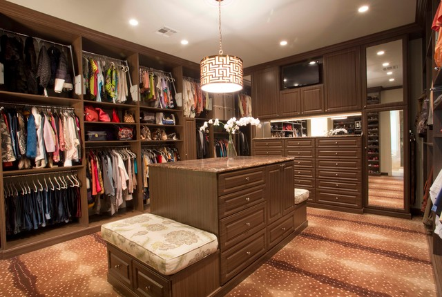 His Hers Master Closet Traditional