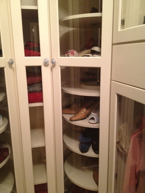 What company designed the lazy Susan style shelves for your shoes? Looks great.