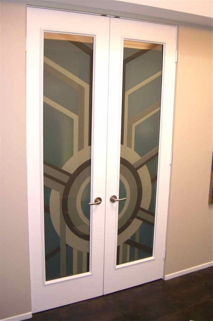 Interior Glass Doors With Obscure Frosted Glass Sun
