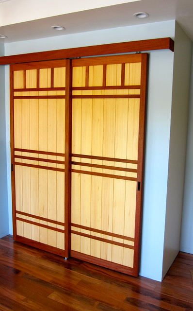 Elegant Japanese Amado Door Asian Closet