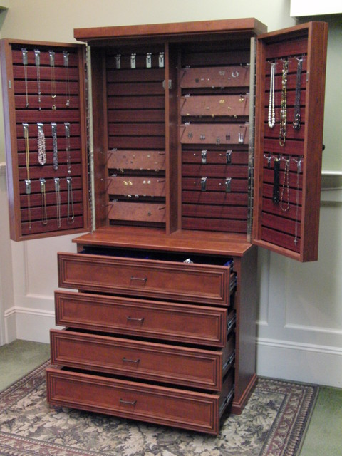Jewelry Cabinet - Traditional - Closet - new york - by Rylex Custom Cabinetry and Closets