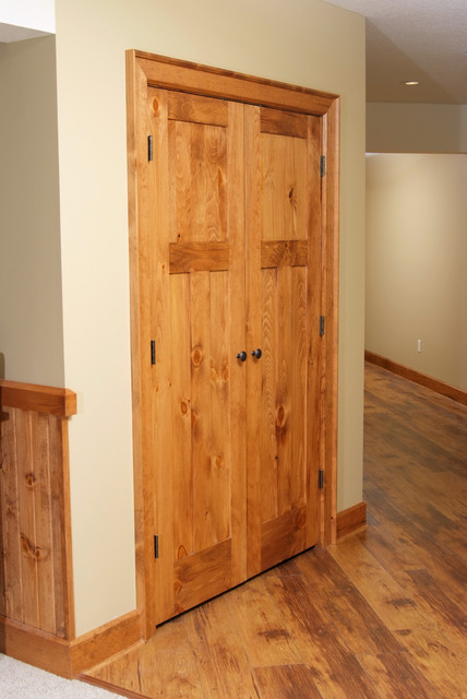 Knotty Pine Shaker Style Double Door - Contemporary - Closet - other metro - by Baird Brothers ...