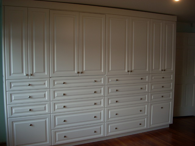 Large Built In Wall Unit Traditional Wardrobe