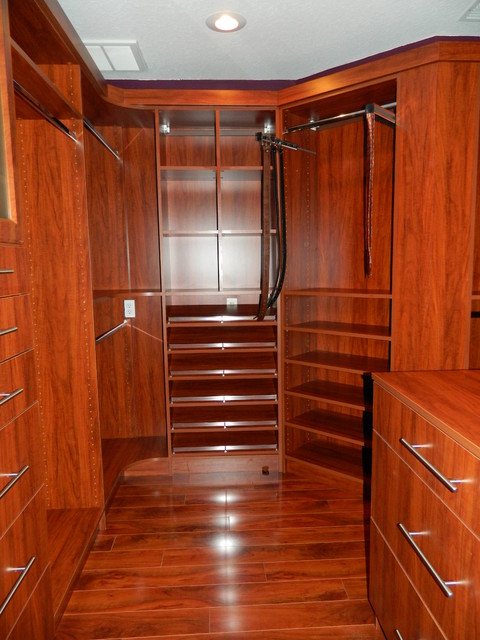Large Walk In Closet 1 Contemporary Closet Tampa By Ambry Design