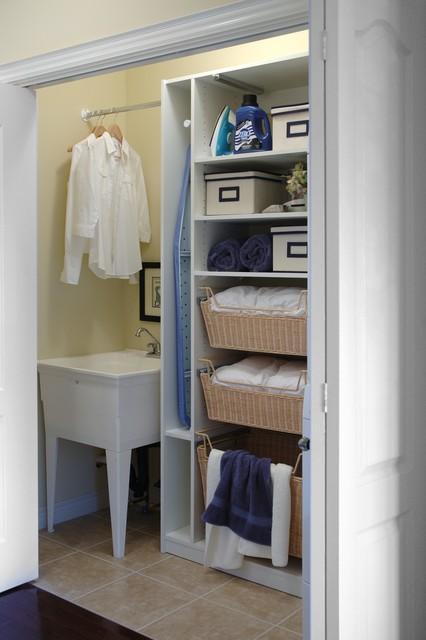 Laundry Closet Organizer Traditional Toronto