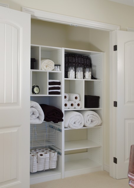 Linen Closet Organizer - Contemporary - Closet - toronto - by Komandor Canada Closets & Doors Inc