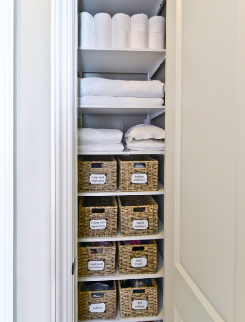Linen Closet Storage | Organized Living freedomRail transitional-closet