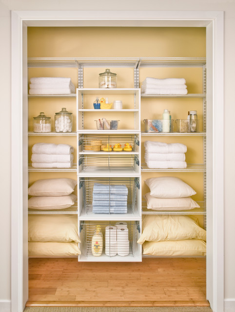 Attractive Linen Closet Storage Traditional Closet