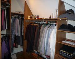loft walk-in wardrobe traditional-closet