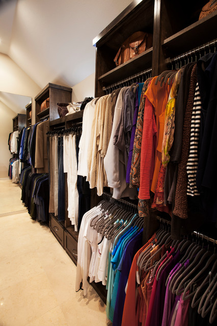 Long Narrow Walk In Closet Traditional Closet