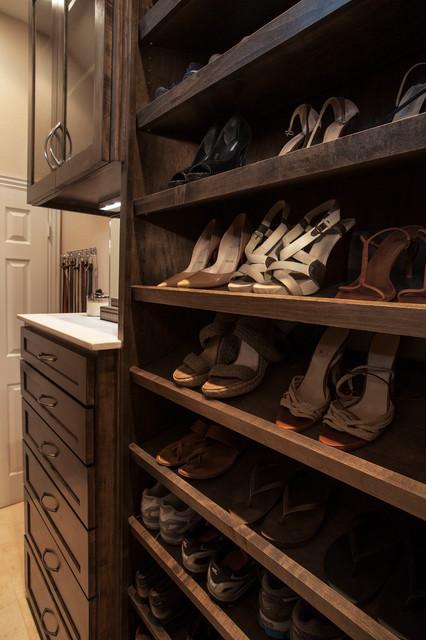 Long Narrow Walk in Closet traditional-closet