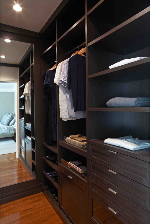 Los Feliz HIS/HER Closet contemporary closet