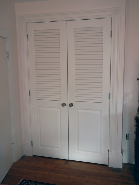 Louvered Doors Traditional Closet Boston By