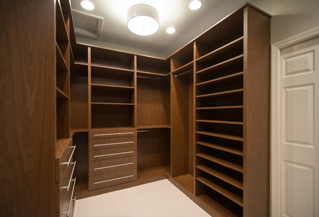 Lz Master Suite His And Hers Walk In Closet Modern Wardrobe
