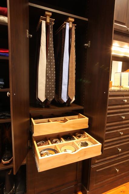 Man's Closet in Mocha traditional-closet