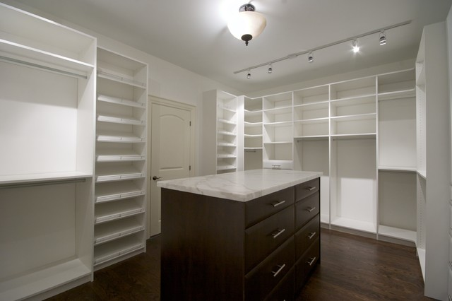 Marble Island, In A Dressing Room. Contemporary Closet