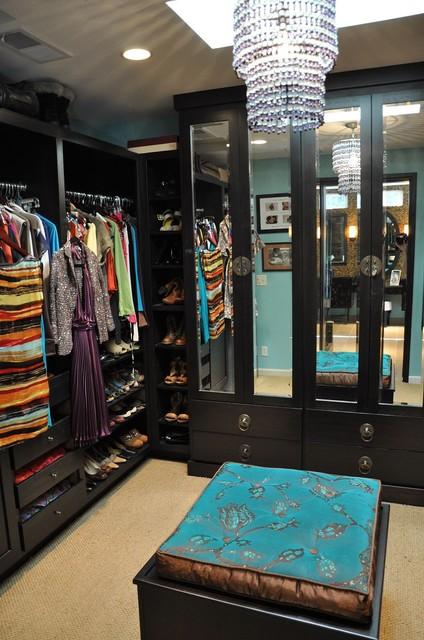 Master bedroom retreat and spa contemporary wardrobe for Armoire salon design