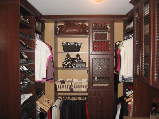 Master bedroom walk in closet eclectic closet for Master bathroom designs with walk in closets