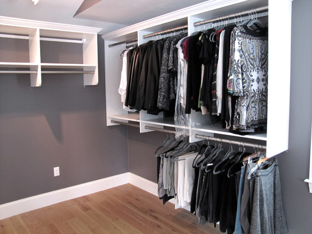 Master Bedroom Walk In Closet With Pull Out Ironing Board, Plenty Of Drawe    Contemporary   Wardrobe   Providence   By Closets Etc., LLC