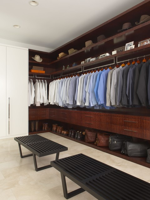 Master closet contemporary closet detroit by - Mens walk in closet ...