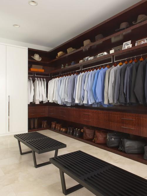 Master Closet contemporary closet