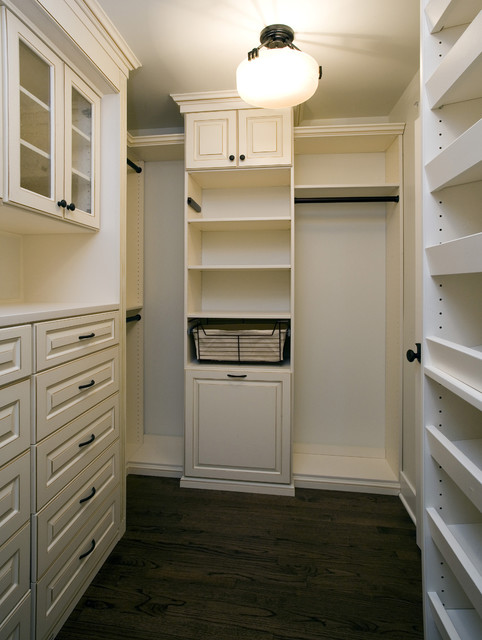 Master closet craftsman closet chicago by great - Walk in closet designs for a master bedroom ...