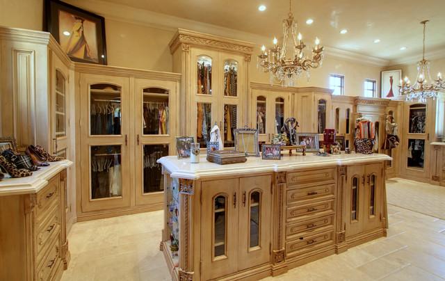 Luxury Master Closets master closet hers' - mediterranean - closet - phoenix -