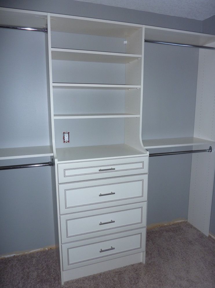 Master closet hutch tower - Antique White with hanging on ...