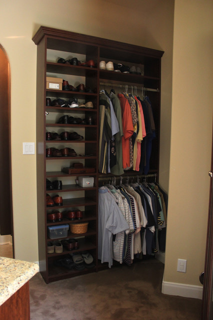 SpaceMan Home & Office Master Closet in Mocha traditional-closet