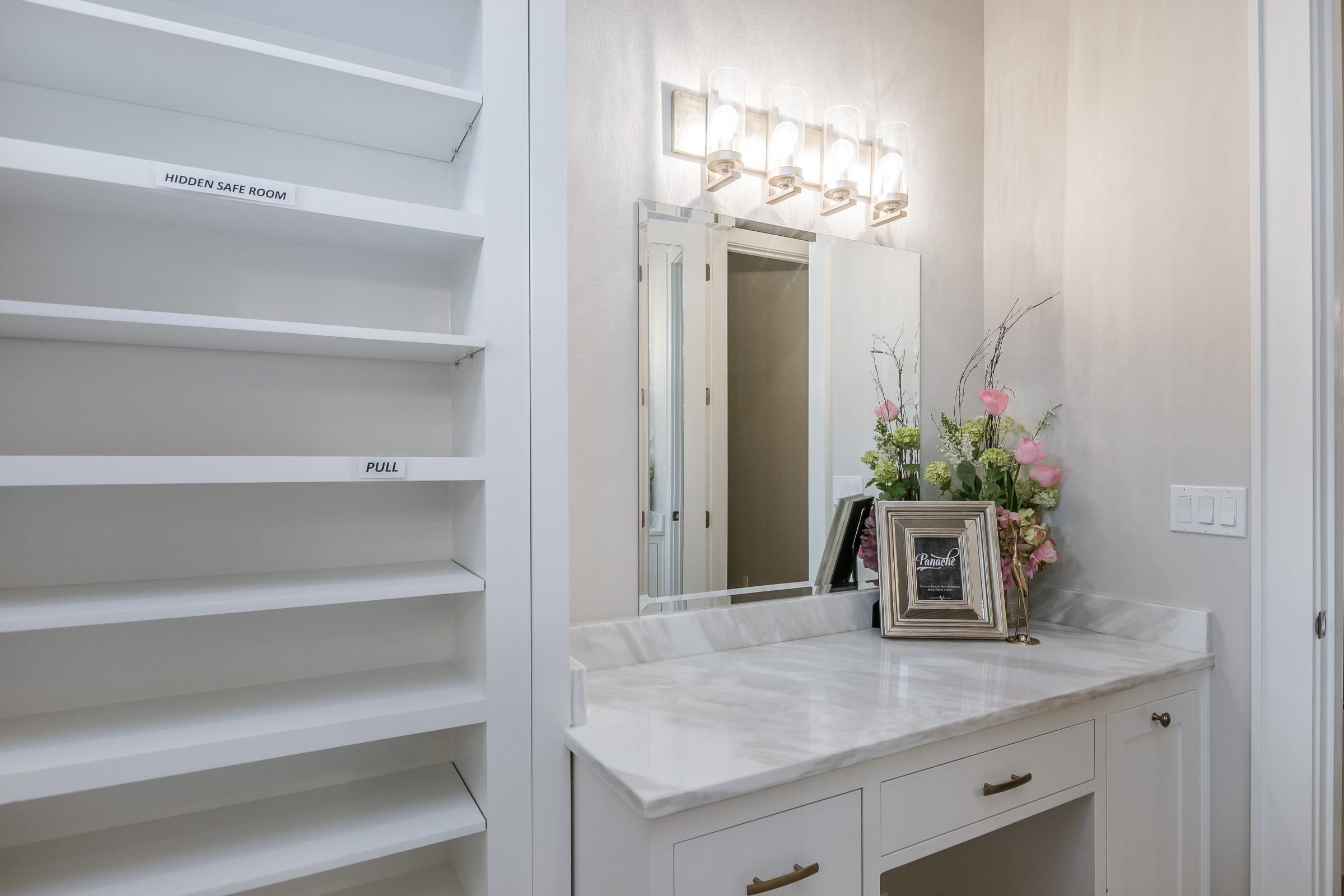 Master closet w/vanity