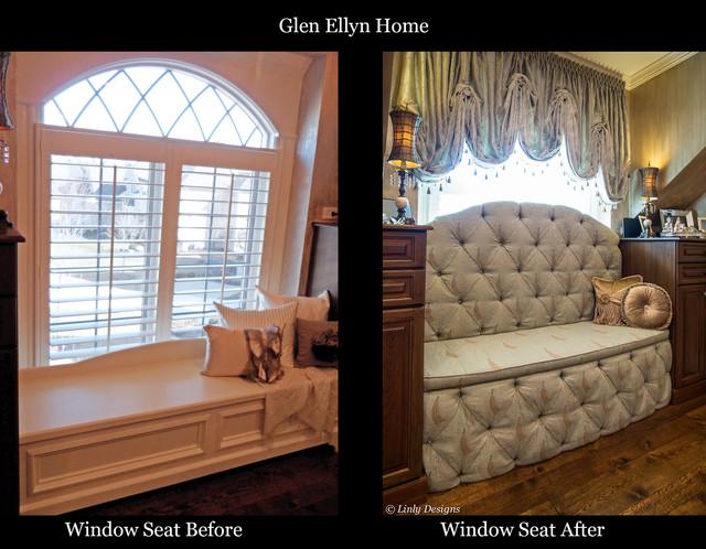 Master Closet Window Seat Traditional Wardrobe